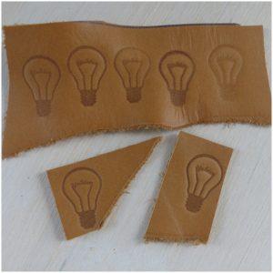 Die Labels können je nach Wunsch in einer passenden Form zugeschnitten werden