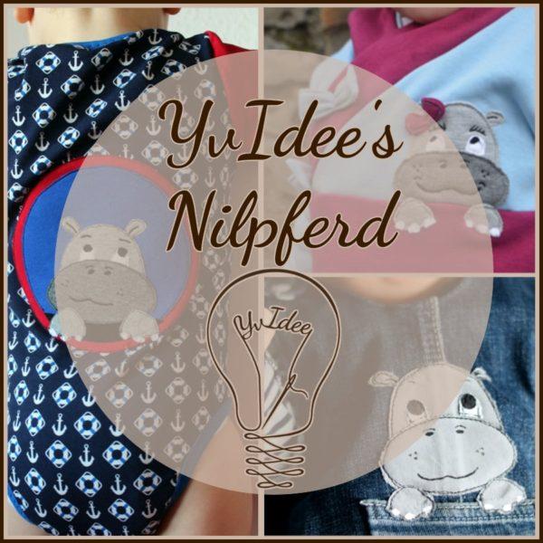 """Deckblatt der Applikationsvorlage """"YvIdee's"""" Nilpferd"""