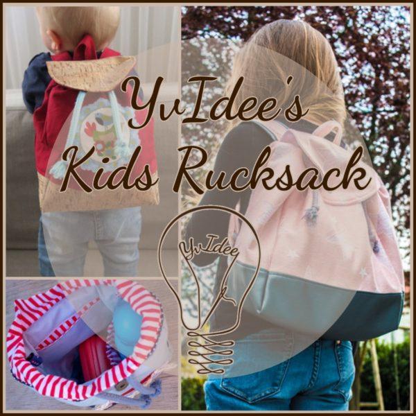 YvIdee's Kids Rucksack ist ein Schnittmuster für einen Kinderrucksack