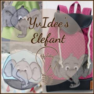 Deckblatt zur Applikationsvorlage YvIdee's Elefant