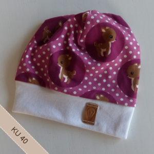 Mütze für Mädchen in Kopfumfang 40
